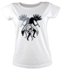 Kokopelli tisort kadin tshirt on3