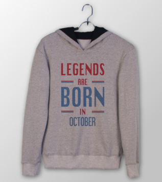 Legends are Born in October Doğumgünü Sweatshirt