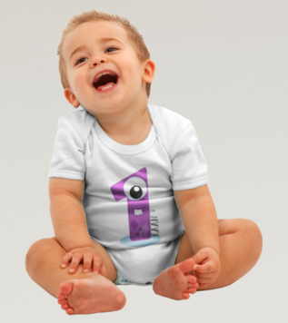 First birthday design baby body suits