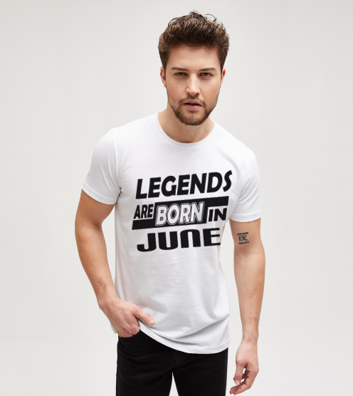 Legends-are-born-in-june-beyaz-tisort-erkek-tshirt-tasarla-on3