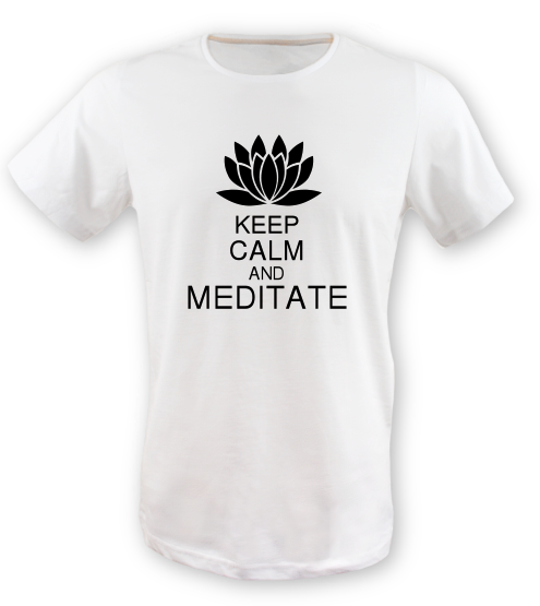 Keep-calm-and-meditate erkek-tshirt on3