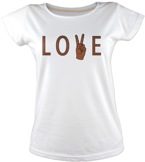 Love-peace-tisort kadin-tshirt on3
